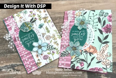Easy Handmade Card Using  Share What You Love Designer Paper