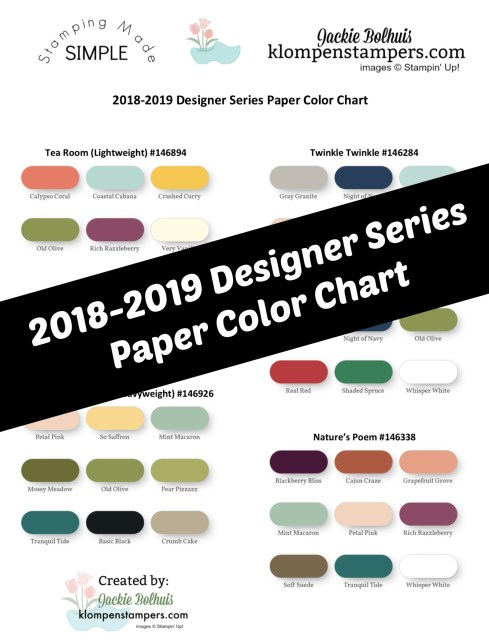 Designer Series Paper Color chart