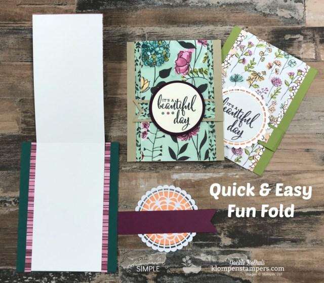 Share What You Love Fun Fold Card