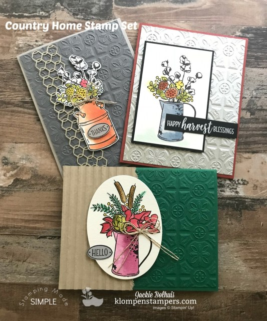 Add texture to your handmade cards quickly and easily. Jackie Bolhuis, Stampin' Up! Demonstrator