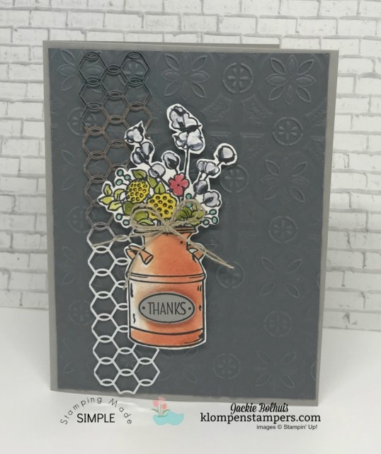 Stampin' Up! Card Design Ideas Using Country Home by Jackie Bolhuis