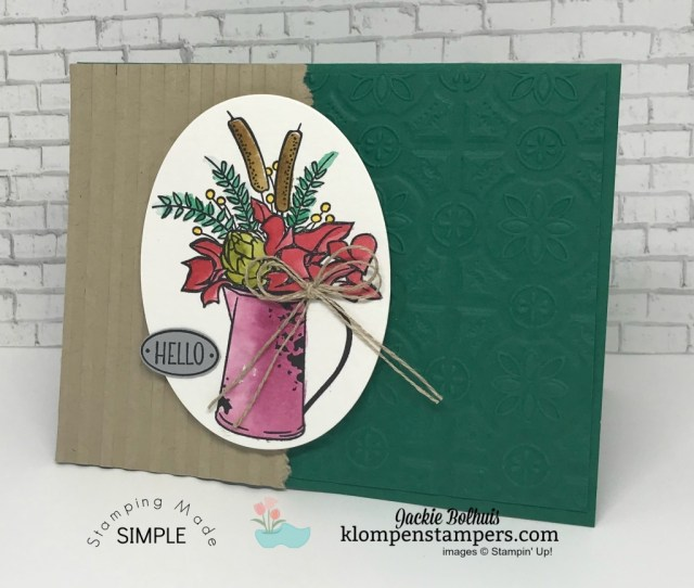 Greeting card making ideas and how to add texture to your cards with Jackie Bolhuis
