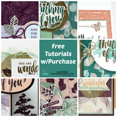 Free Tutorials When You Purchase These Stamp Sets!