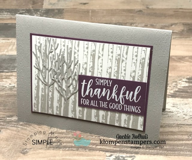 Card Tutorial with Jackie Bolhuis. Need quick greeting card design ideas for masculine cards? I've several to share with you today and even more ideas in the blog archives! #cardmaking #stampinupcards #jackiebolhuis #klompenstampers