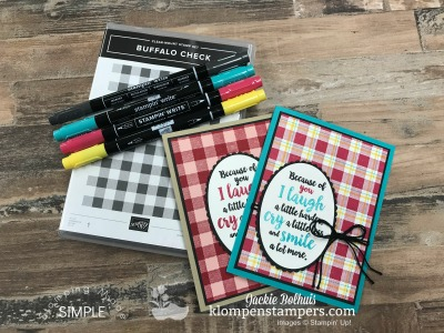 How To Make A Greeting Card With A Plaid Background