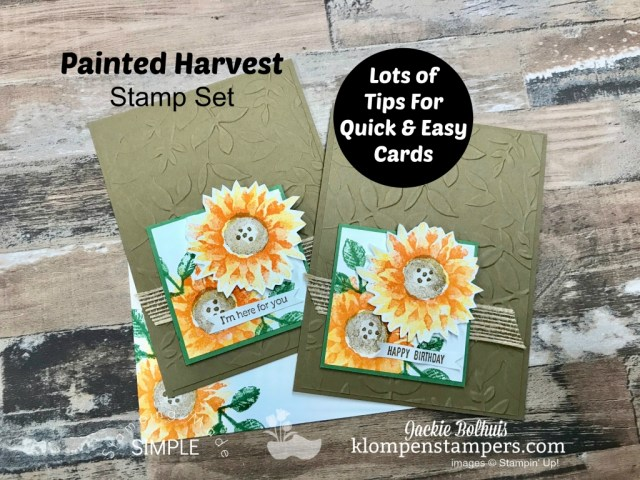 Lots Of Card Making Tips Using Painted Harvest Stamp Set Klompen Stampers