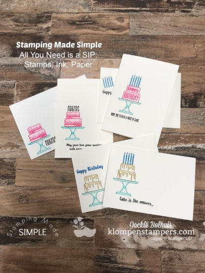 Simple Stamping Easy as a Piece of Cake