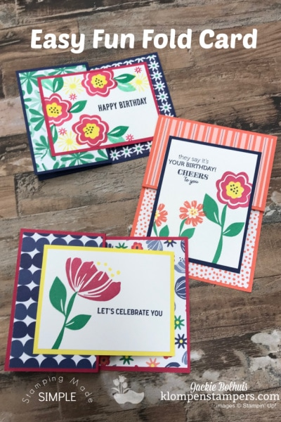 3 Amazing Birthday Cards from 1 Fun Fold Card Design