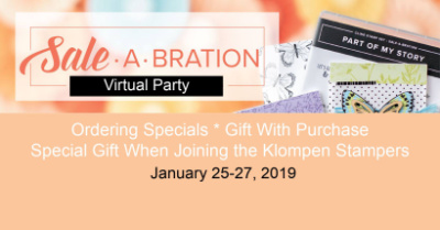 Sale-a-bration Virtual Stamping Party