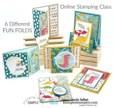 Learn How to Make 6 Fun Fold Cards in this Online Stamping Class