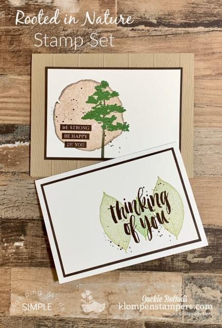 The 'Rooted in Nature' stamp set is perfect for masculine cards. Tutorial can be found at https://klompenstampers.com/2019/08/stamping-with-markers-how-get-unique-looks.html