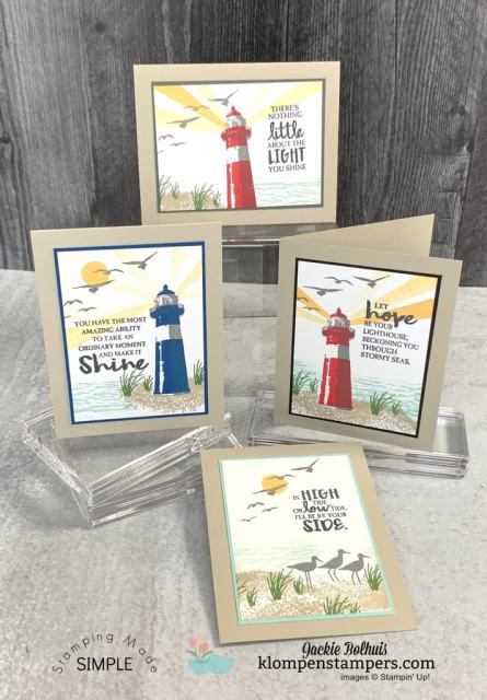 Handmade cards featuring Stampin' Up! High Tide. https://klompenstampers.com/2020/03/simple-cards-for-men-make-stamping-easy.html