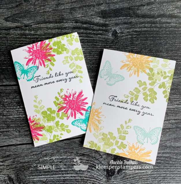 beautiful quick cards to make in simple stamping style