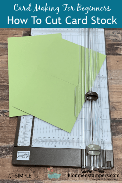Cardstock Basics + How to Cut Card Base and Layers | Card Making For Beginners Series