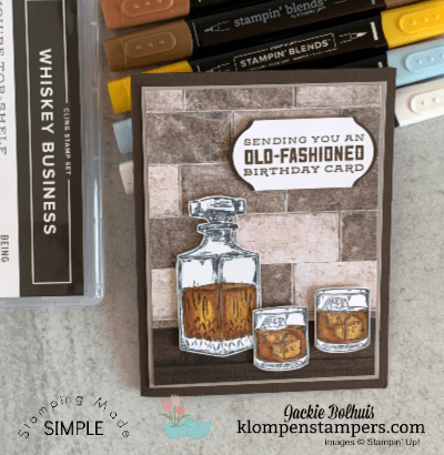 DIY Birthday Card You'll Love to Make: Whiskey Business