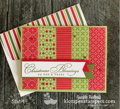 Simple Card Layout That's Perfect for Making Easy Christmas Cards