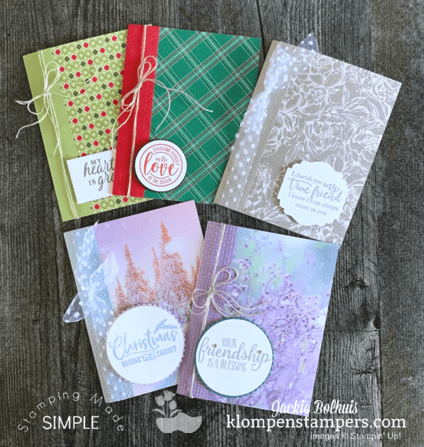 You can make easy cards fast but beautiful and with only a few supplies so you'll stay on budget.