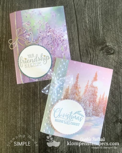 Part of what makes easy cards so simple is the beautiful designer series paper or scrapbook papers you can use.