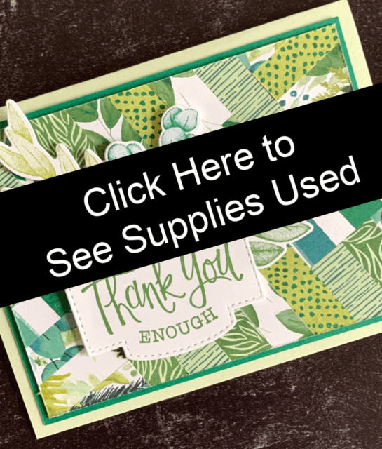 Click here for simple thank you card supply list