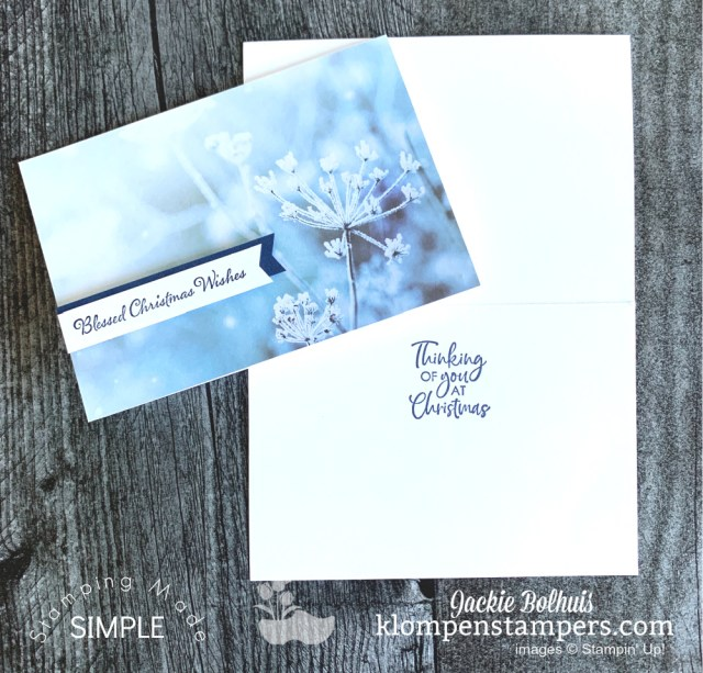 The Feels Like Frost designer paper by Stampin' Up! makes creative note cards that are beautiful.