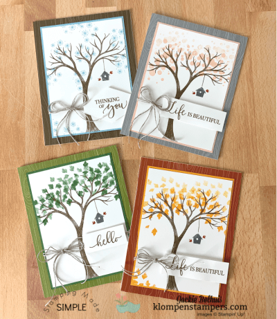 Easy Card Making to Show Life is Beautiful in All 4 Seasons