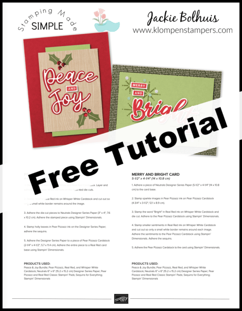 Make your own christmas cards with this free tutorial.