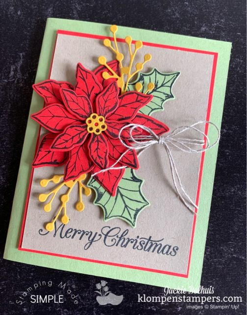 Poinsettia Cards like this just use die cut layers for beautiful cards.