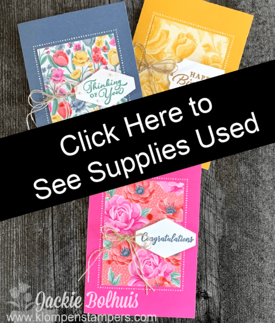 Click here to see supplies used to make these cards.