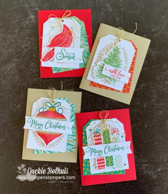 These Christmas tags are perfect as gift and bag toppers, or give as a bundled gift.