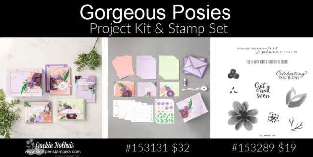 The Stampin' Up! Gorgeous Posies is a perfect gift for crafters who love floral cards