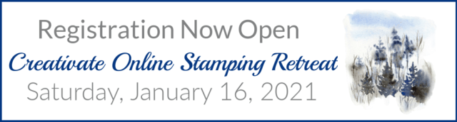 Online stamping retreat for the winter session is now open to registration.