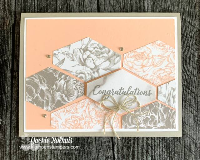 This craft punch gives you versatility in how you lay out your card background.