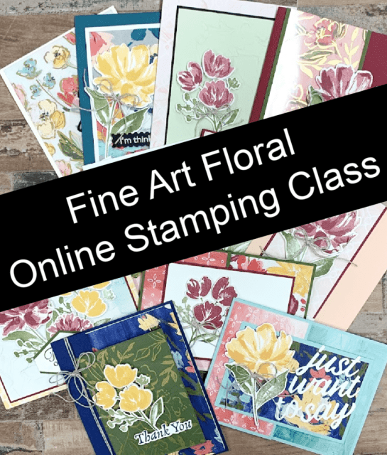 The best fun fold card fun I've had so far with the NEW Stampin' Up! Fine Art Floral.