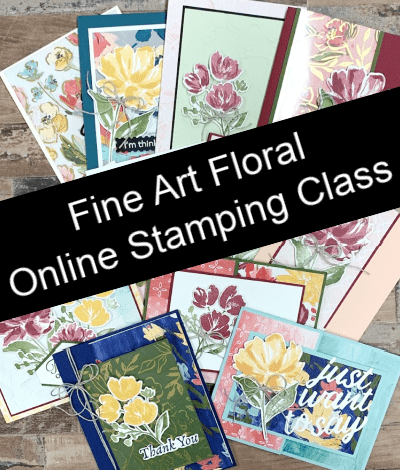 The Best Fun Fold Card You Can Make with the Fine Art Floral + Class Sneak Peek