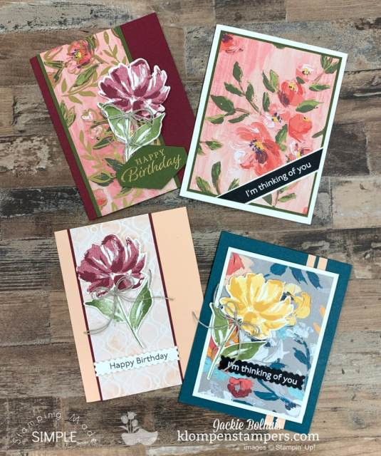 These 4 beautiful cards are all fun fold cards you can make.
