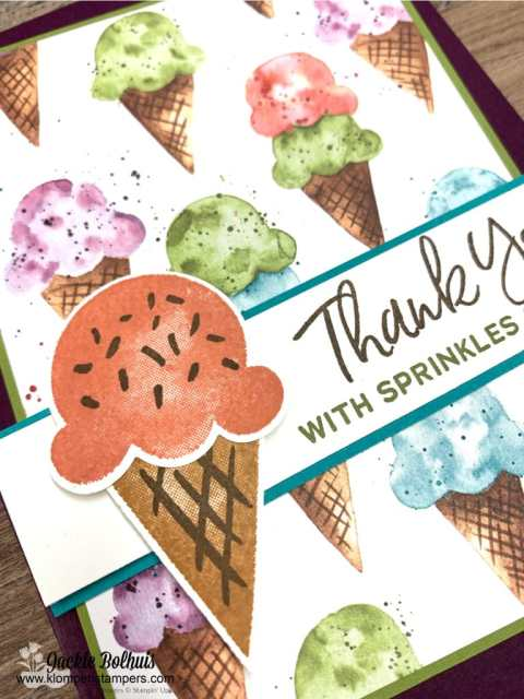 The stamped sprinkles on this sweet ice cream cone make it complete.
