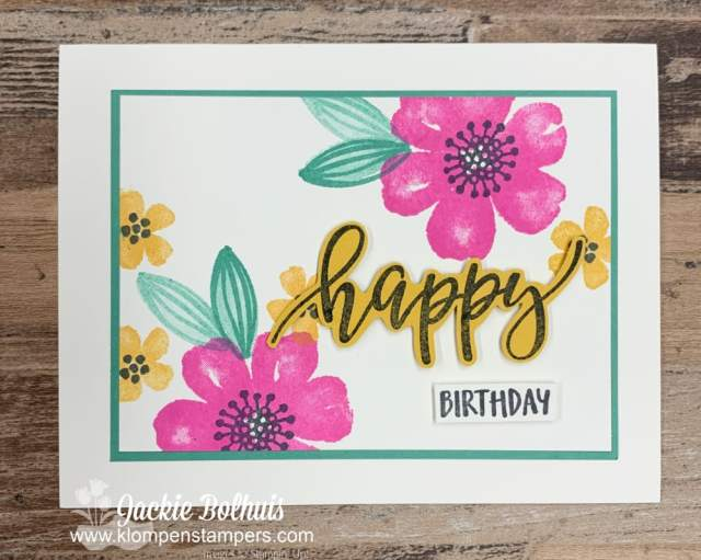 Notecard happy mail is always appreciated for Birthday Cards!