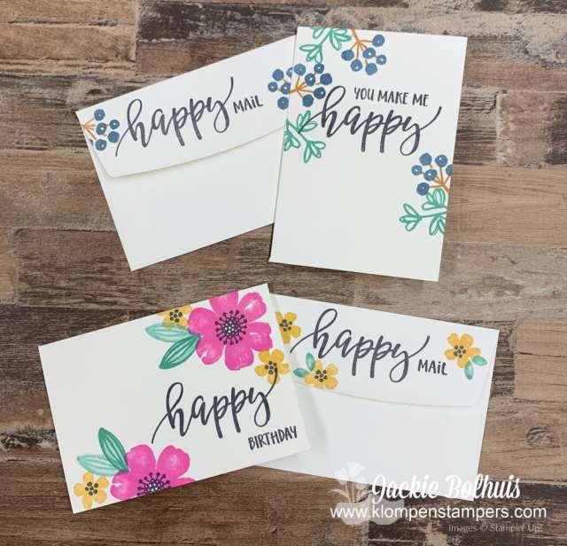 DIY notecard happy mail that is super easy to make.