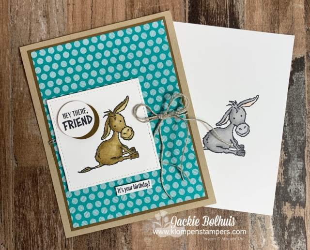 My stampin blends made this birthday card super simple to DIY.