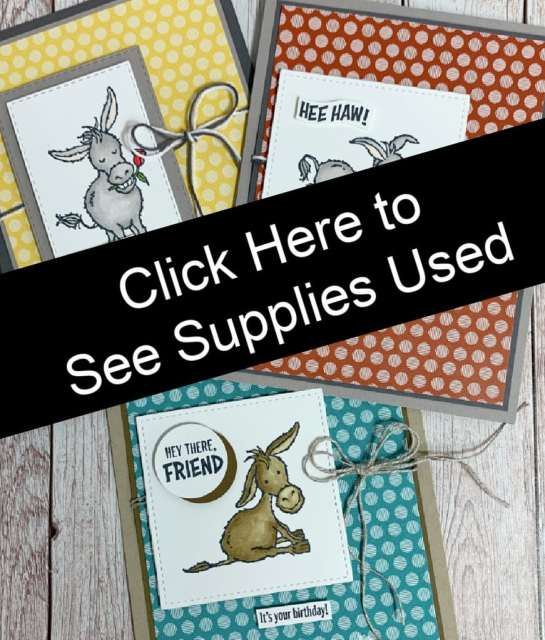Click here for supply list on today's greeting cards.