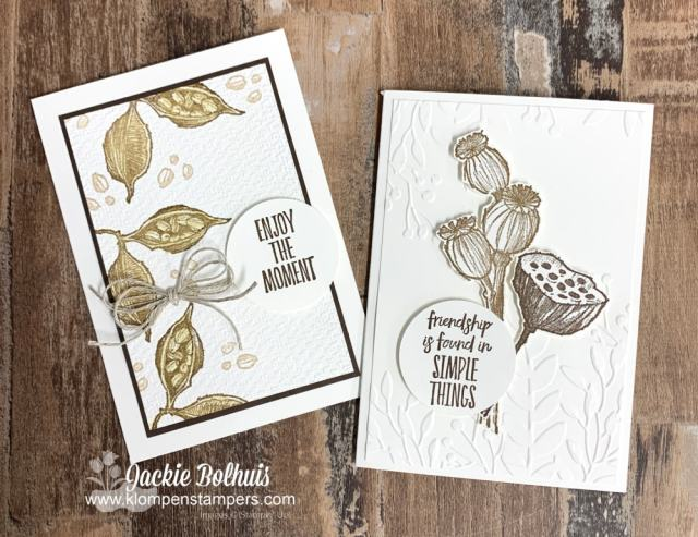 I think the blender pens pair well with the Stampin' Up! Enjoy Every Moment stamp set.