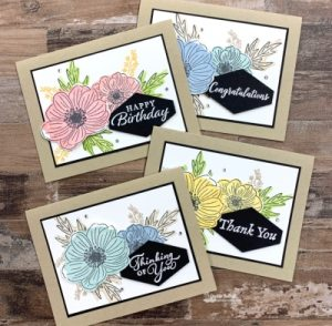 New Reversible Stamps that Make Gorgeous Back to Back Blooms Greeting Cards