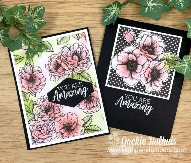 The best blending brushes are made by Stampin' Up! I used them to color these floral cards in soft pinks and green inks
