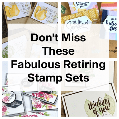 Last Chance For Retiring Stamps: While Supplies Last Until May 3, 2021