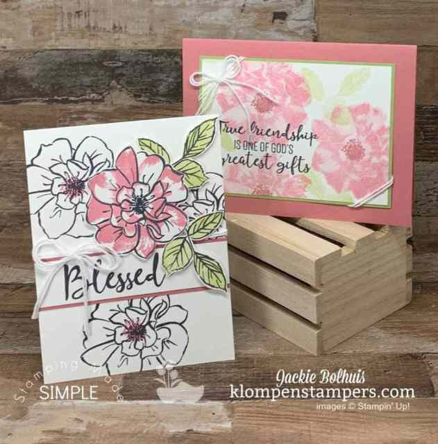Simple ideas for cards using a monochromatic theme.