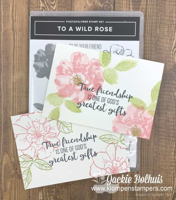 These are simple ideas for cards using the Stampin' Up! To a Wild Rose stamp set.