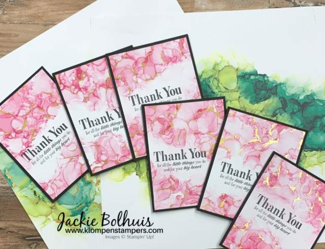 Make thoughtful cards with this pink paper included in the Expressions in Ink paper pack.