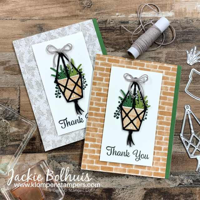 Make a thank you card with Stampin' Up! Plentiful Plants