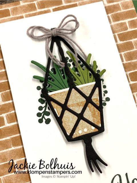 You can see how to make the plants in different shades of green cardstock.
