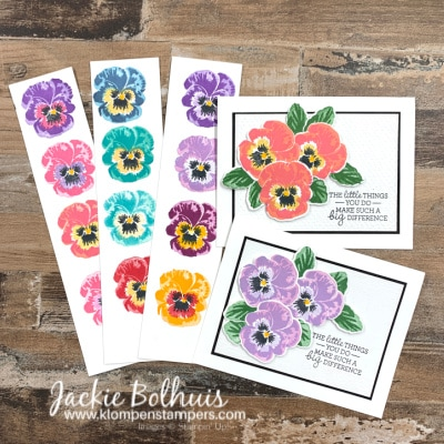 Best Stamp Layering Techniques & Color Combo's That Make the Pansy Patch Vibrant